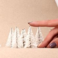 09. Белые деревья для архитектурных макетов серия «White»