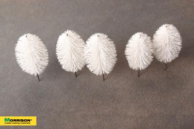 Белые деревья для макета. Высота 9-11 см. Набор 5 штук.