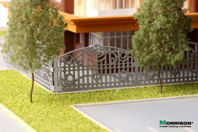 H-25mm. Ажурная парковая ограда с орнаментом