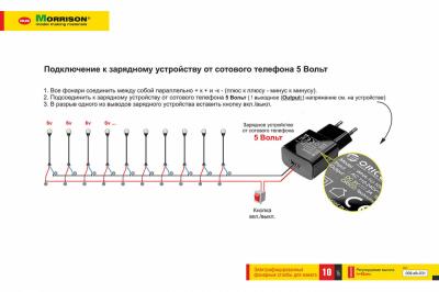 Электр. садово-парковые фонари для макета (Набор 10 шт.)