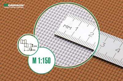 Металлочерепица в масштабе 1/150