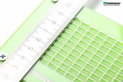 Форма со сборочным шаблоном для изготовления мини-кирпичиков в масштабе 1:43