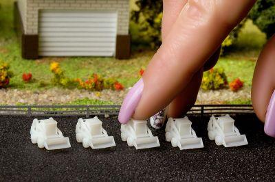 Мини-погрузчики для макетов в масштабе М 1:250 (Набор 5 шт.)