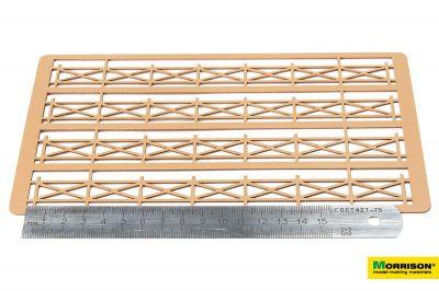 Деревянное ограждение для макетов и диорам. H = 20mm.