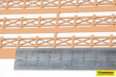 Деревянное ограждение для макетов и диорам. H = 10mm.