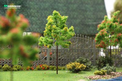 Жёлтое цветущее дерево для макета. Высота 10 см.