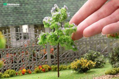 Сиреневое цветущее дерево для макета. Высота10 см.
