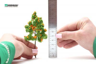 Фруктовое дерево для макета с оранжевыми плодами. Высота 10 см.