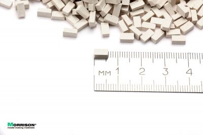 Белые мини кирпичи в масштабе 1:43 (500 шт.)