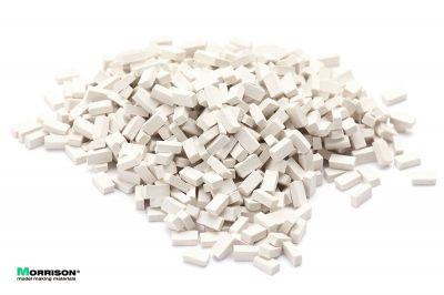 Белые мини кирпичи для диорамы в масштабе 1:35 (400 шт.)