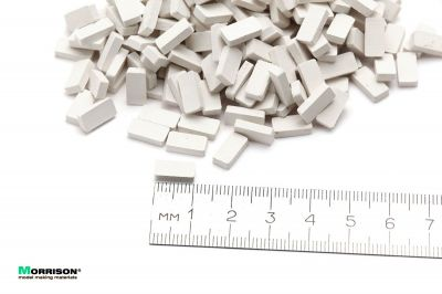 Белые мини кирпичи в масштабе 1:24 (300 шт.)