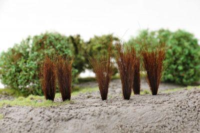"""Высокие пучки травы """"Тёмно-коричневые"""". Набор 10 штук."""
