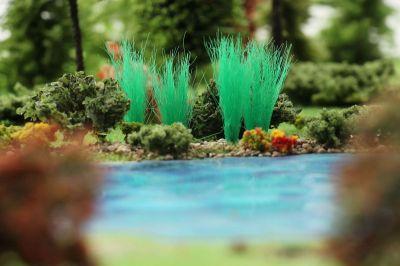 """Высокие пучки травы """"Ярко-зелёные"""". Набор 10 штук."""