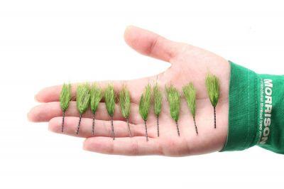 """Высокие пучки травы """"Натуральный зеленый"""". Набор 10 штук."""