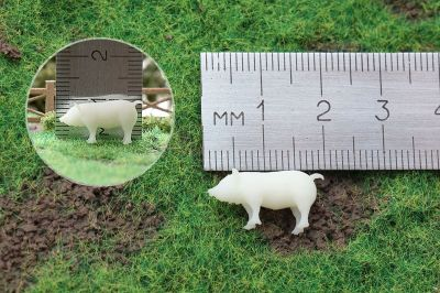 Фигурка свиньи для макета М 1/87-1/100