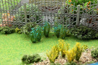 """Цветущие растения для диорамы """"Синие соцветия""""."""