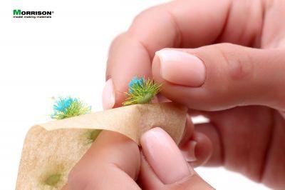 Синие цветущие пучки травы для диорам (кочки).