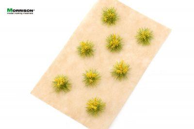 Жёлтые цветущие кочки для диорам.