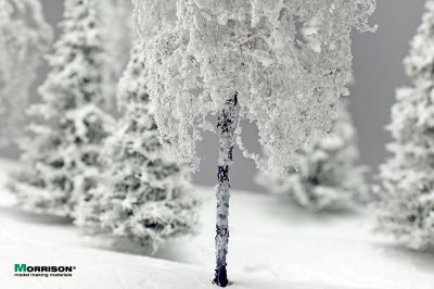 Зимняя берёза для макета 15 см.