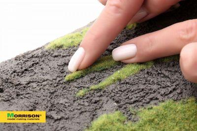 Травяные пятна для диорам. Спокойная зелень.