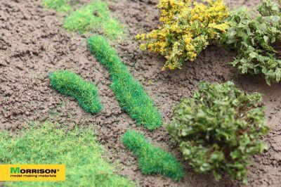 Травяные пятна для диорам. Яркая зелень.