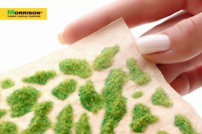 Травяные пятна для диорам. Солнечная зелень.