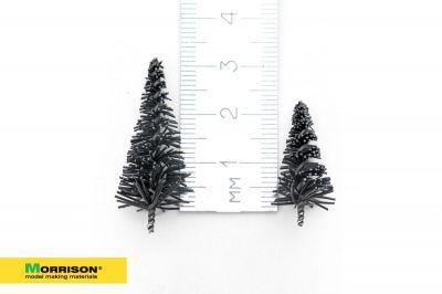 Набор елей (2-3см) для макета в масштабах 1/200 - 1/700. 10 штук.