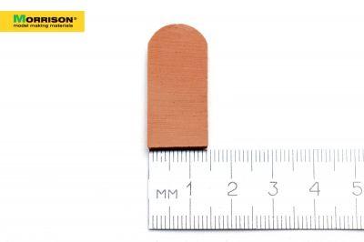 Черепица для кукольного домика в масштабе 1:12 (50 шт)