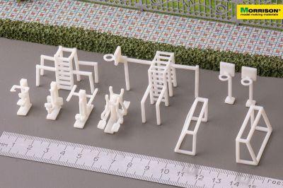 Макет спортивной площадки в масштабе 1:100 (Набор 10 элементов)