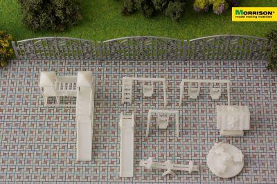Макет детской площадки в масштабе 1:100 (Набор 8 элементов)