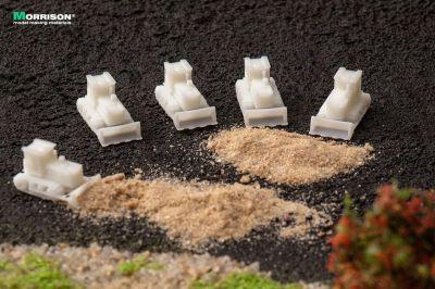 Бульдозеры для макетов в масштабе 1:300 (Набор 5 шт.)