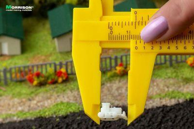 Бульдозеры для макетов в масштабе 1:400 (Набор 10 шт.)
