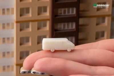 Цельнометаллические фургоны для макета в масштабе 1:250 (Набор 5 шт.)