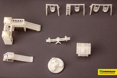 Детская площадка для макета М 1:150 (Набор 8 элементов.)