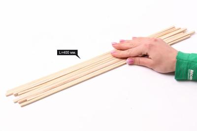 Рейки дерев. 5х5 мм. L=40 см. (Набор 9 шт.)