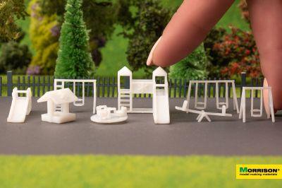 Детская площадка для макета в масштабе 1:200 (Набор 8 элементов.)