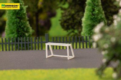 Мини-футбольные ворота для макета спортивной площадки в масштабе 1:200