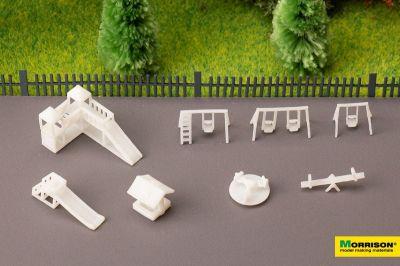 Детская площадка для макета в масштабе 1:250 (Набор 8 элементов.)