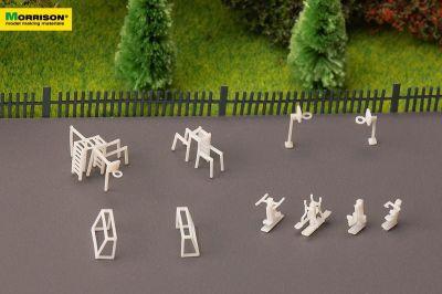 Спортивная площадка для макета в масштабе 1:250 (Набор 10 элементов)