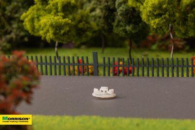 Карусель для макета детской площадки в масштабе 1:300