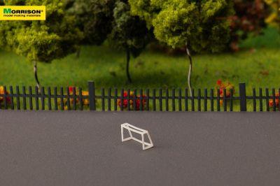 Мини-футбольные ворота для макета спортивной площадки  масштабе 1:300