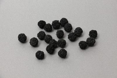 Поролоновые шарики черные. 20шт. 15-20мм.
