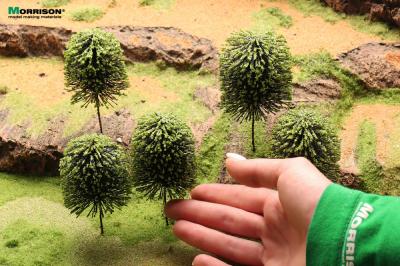 Деревья для миниатюры с формированной кроной. Набор 5 штук.