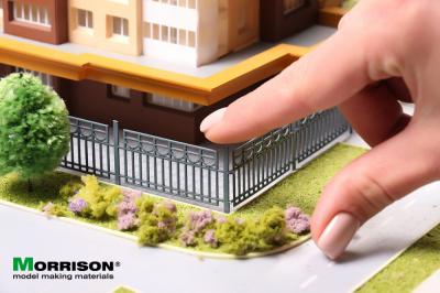 Модель садово-паркового забора. H=2см./L=70см.