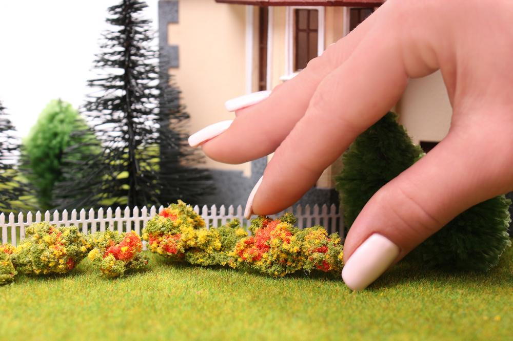 Цветы для макета своими руками