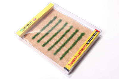 Полосы травы для макета. Яркая трава.