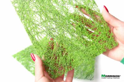 Маты для изготовления деревьев для диорам. Ярко-зелёные. Набор 3 штуки.