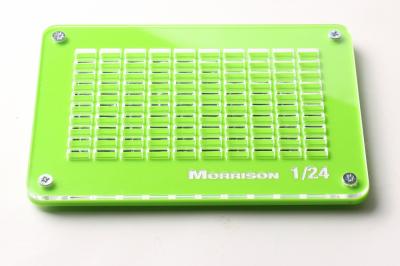 Форма со сборочным шаблоном для изготовления мини-кирпичиков в масштабе 1:24