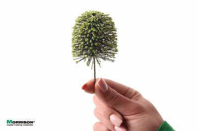 Деревья для миниатюры с формированной кроной. Набор 10 штук.