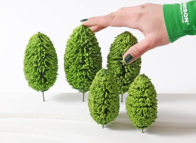 Набор 5 шт. Деревья для изготовления макетов.